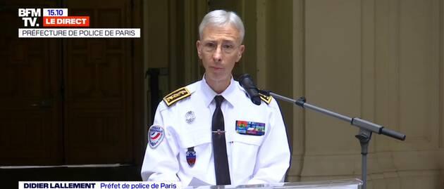 Didier Lallement, le préfet de police de Paris (capture d'écran BFM TV).